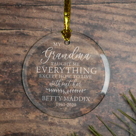 Personalized Grandma Memorial Christmas Ornament