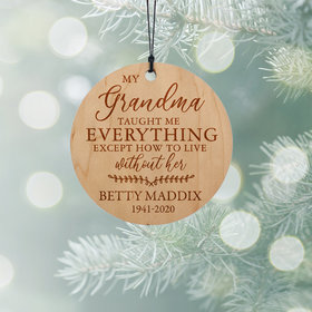 Personalized Grandma Christmas Ornament