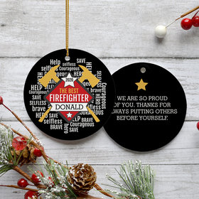 Personalized Firefighter Christmas Ornament