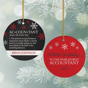 Personalized World's Best Accountant Christmas Ornament