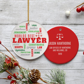 Personalized Lawyer Christmas Ornament