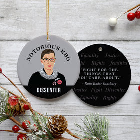 Notorious RBG Ruth Bader Ginsburg Christmas Ornament