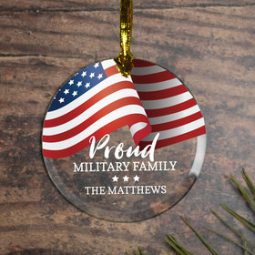 Personalized Proud Military Family Christmas Ornament