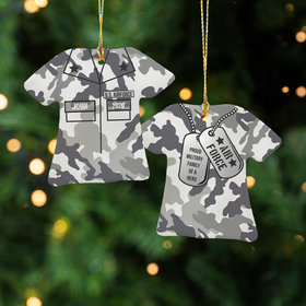 Personalized Air Force Shirt Christmas Ornament