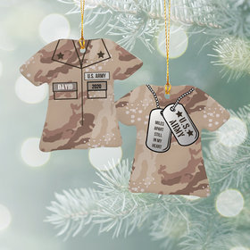 Personalized Army Shirt Christmas Ornament