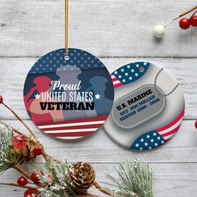 Personalized Our Dad, Our Hero Christmas Ornament