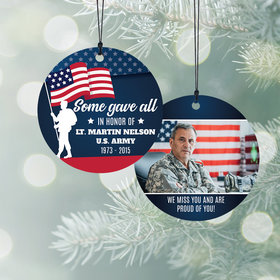 Personalized Veteran/Memorial Christmas Ornament