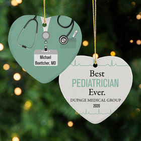 Personalized Best Pediatrician Christmas Ornament