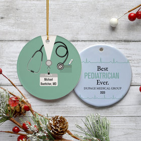 Personalized Pediatrician Christmas Ornament