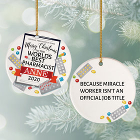 Personalized Pharmacist Christmas Ornament
