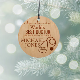 Personalized World's Best Doctor Christmas Ornament