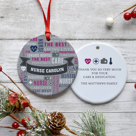 Personalized Nurse Appreciation Christmas Ornament