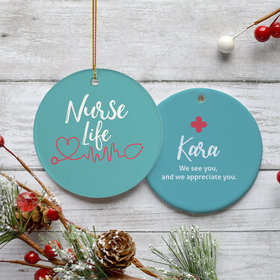 Personalized Nurse Life Ornament