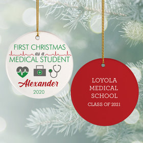 Personalized Med Student Christmas Ornament