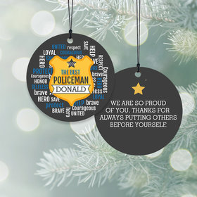 Personalized Policeman Christmas Ornament