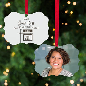 Personalized Best Realtor House Christmas Ornament