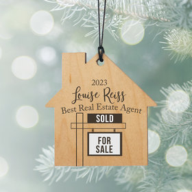 Personalized Realtor Christmas Ornament