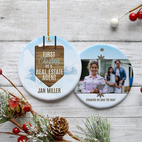 Personalized Real Estate Christmas Ornament