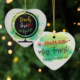 Personalized You Shape the Future Christmas Ornament