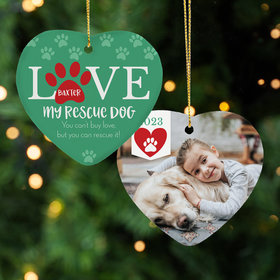 Personalized Rescue Pet Christmas Ornament