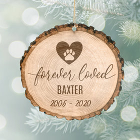 Personalized Forever Loved Christmas Ornament