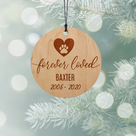 Personalized Pet Memorial Christmas Ornament