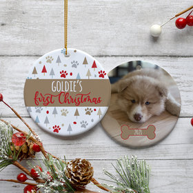 Personalized Pet's First Christmas Christmas Ornament