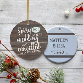 Personalized Cancelled Wedding Christmas Ornament