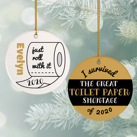 Personalized I Survived the Great TP Shortage Christmas Ornament