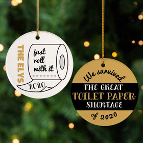 Personalized We Survived the Great TP Shortage Christmas Ornament