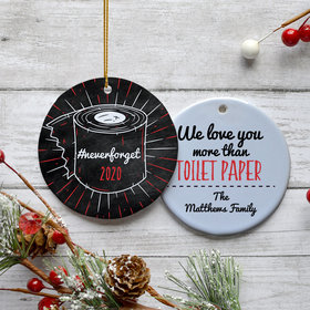 Personalized We Love you more than TP Christmas Ornament