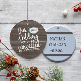 Personalized Our Cancelled Wedding Christmas Ornament