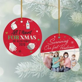 Personalized All I Want fo Xmas Christmas Ornament