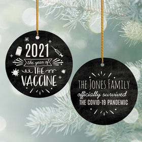 Personalized The Year of the Vaccine Christmas Ornament