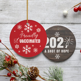 Proudly Vaccinated Christmas Ornament