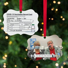 Personalized Vaccination Record Card Christmas Ornament