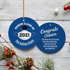 Personalized Quarantined Graduation Christmas Ornament