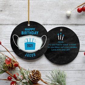 Personalized Quarantine Birthday Colors Christmas Ornament