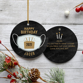 Personalized Pandemic Birthday Colors Christmas Ornament