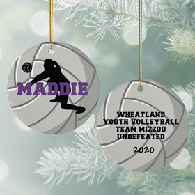Personalized Volleyball Christmas Ornament