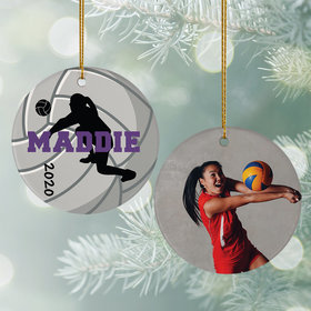 Personalized Volleyball Photo Christmas Ornament