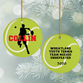 Personalized Tennis Christmas Ornament