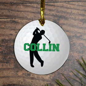 Personalized Golf M Christmas Ornament