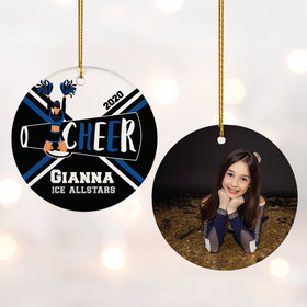 Personalized Cheer Photo Christmas Ornament