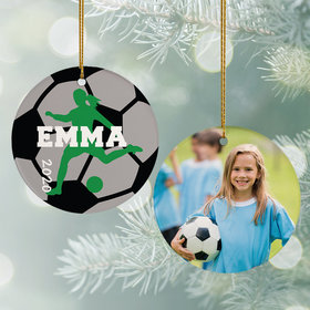 Personalized Soccer Photo Christmas Ornament