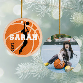Personalized Basketball Photo Christmas Ornament