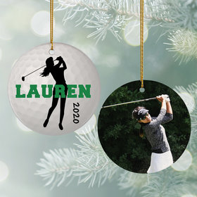Personalized Golf Photo Christmas Ornament