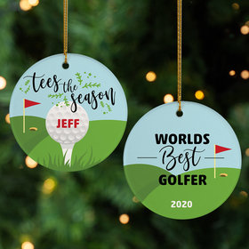 Personalized World's Best Golfer Christmas Ornament