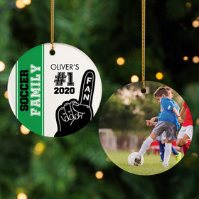 Personalized #1 Fan Soccer Christmas Ornament