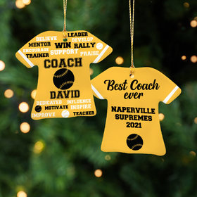 Personalized Best Coach Baseball - Purple Christmas Ornament
